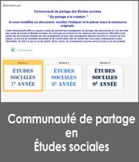 Communauté de partage en Études sociales