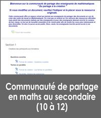 Communauté de partage en mathématiques