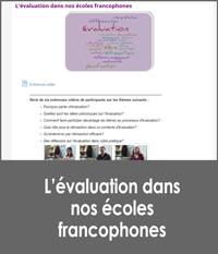 L'évaluation dans nos écoles francophones