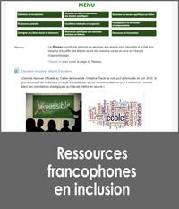 Ressources francophones en inclusion