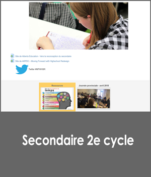 En marche vers la reconception du secondaire 2e cycle