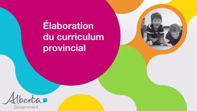 Élaboration du curriculum provincial